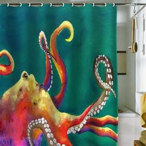 Including designs of shower curtains with octopus theme that may be