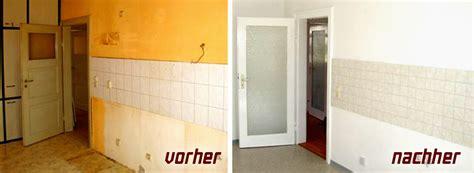 küchenfronten streichen vorher nachher dunkles wohnzimmer