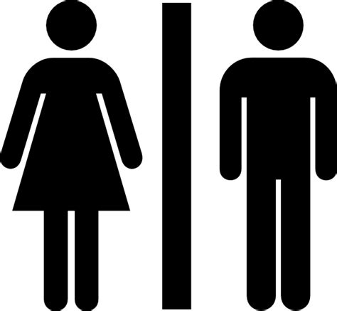 male female bathroom symbols male and female bathroom clip art at clker com vector