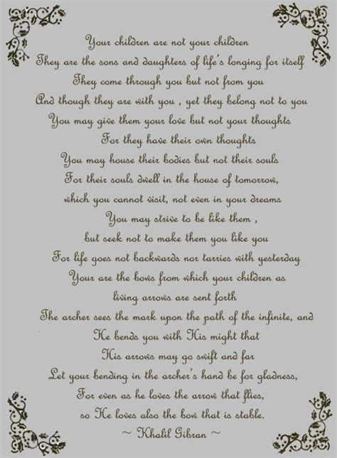 Wedding Blessing Kahlil Gibran by One Of My Favorite Poem By Gibran Kahlil Gibran