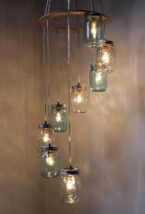 A Jar Chandelier Waterfall Splash Jar Chandelier Handcrafted Hanging