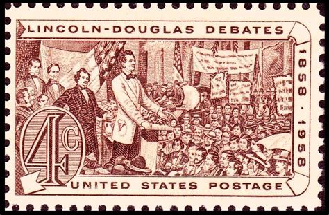 lincoln douglas debate file lincoln douglas debates of 1858 1958 issue 4c jpg