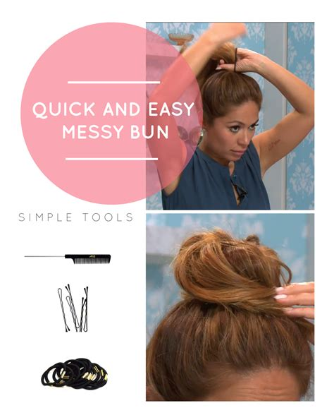 how do you do a messy bun how to do a quick and easy messy bun obsev