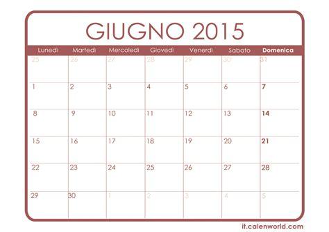 Calendario Giugno 2015 Calendario Giugno 2015 Calendari