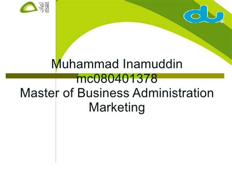 Masters In Organizational Management Vs Mba by Comparing Pricing Strategies Etisalat Vs Du