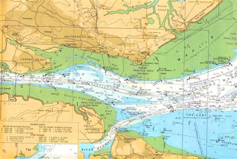 thames river navigation map medway swale c b n page 8
