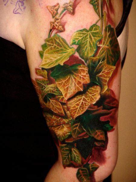 tattoo on arm leaves arm realistic leaves leaf 3d tattoo by boris tattoo
