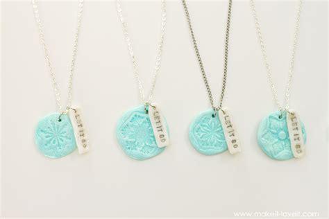 diy best friend necklaces diy quot frozen quot and quot bff quot clay charm necklaces make it and it