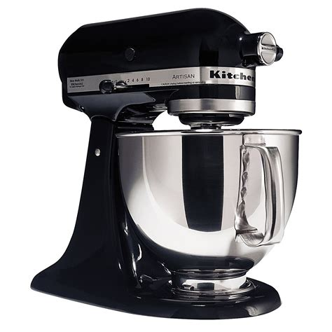 kitchenaid mixer black kitchenaid ksm150psob ksm150psob artisan 174 series onyx black 5 quart stand mixer sears outlet