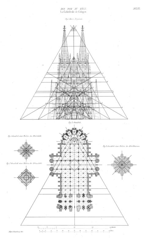 Elevation and plan of the Cathedral, Cologne | Cathedral