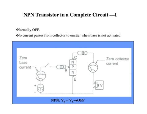 an npn transistor is correctly biased and turned on if the basic electronics
