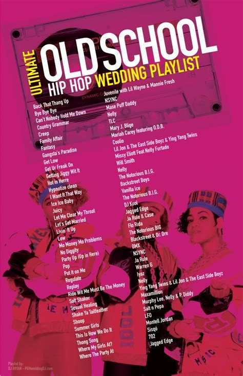 Ultimate Old School Hip Hop Wedding Playlist most
