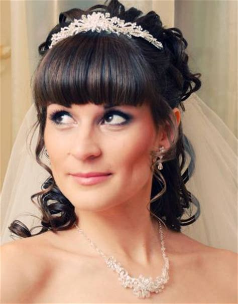 Wedding Hairstyles Half Up Half With Fringe by Bridal Hairstyles With Bangs For Hiar Witveil Half Up