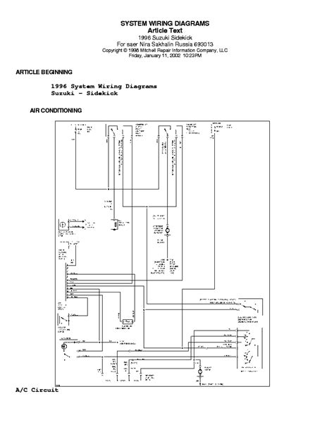 auto repair manual free download 1997 suzuki sidekick user handbook suzuki sidekick wiring diagram 95 96 sch service manual download schematics eeprom repair
