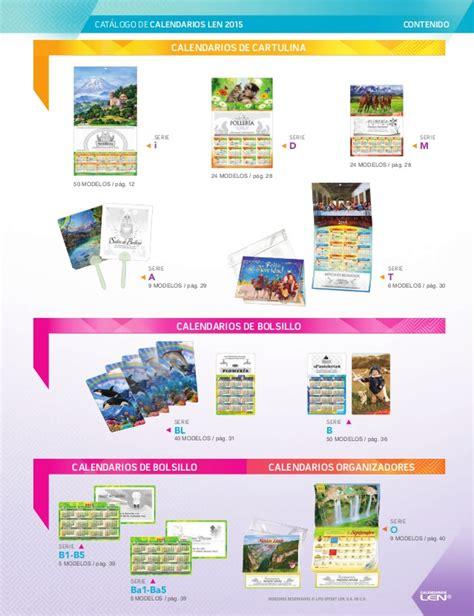 Calendarios Len Calendarios Len 2015