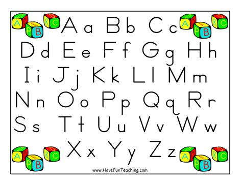 printable alphabet poster upper and lower case alphabet letter poster zaner bloser have fun teaching