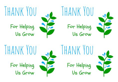 Printable Thank You Cards Free