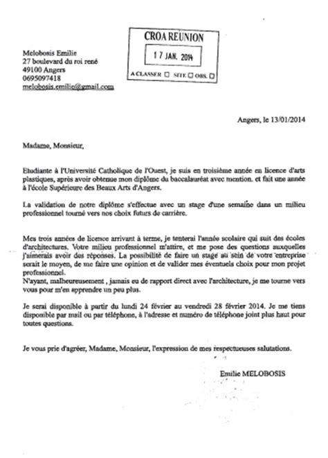 Modèle De Présentation D Une Lettre Administrative Lettre Demande D Emploi Architecte Employment Application