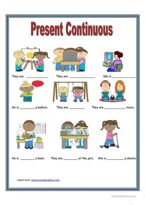 pattern for present continuous tense present continuous tense worksheet free esl printable