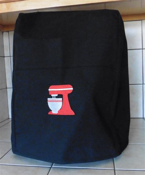 Kitchen Aid Cover by 600 Professional Kitchenaid Mixer Cover Black With Embrioded