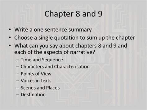 themes in great gatsby chapter 7 the great gatsby chapters 6 and 7