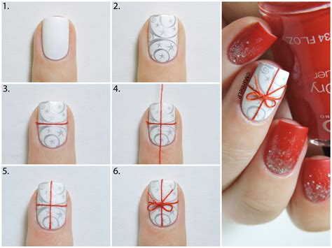 christmas gift nails 2 0 tuto inside marine loves