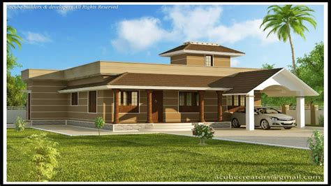 one floor homes single story modern house designs in kerala modern house