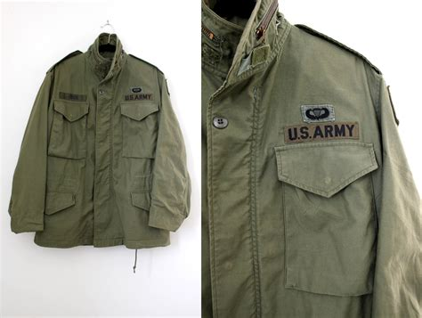 Jaket Army vintage us army jacket mens duffle coat windbreaker jacket