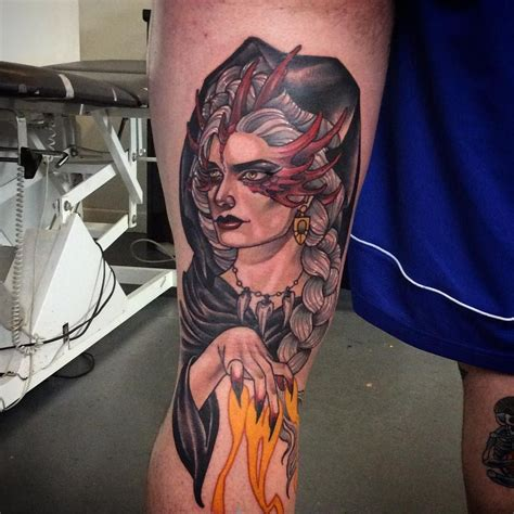 dragon lady tattoo neo traditional