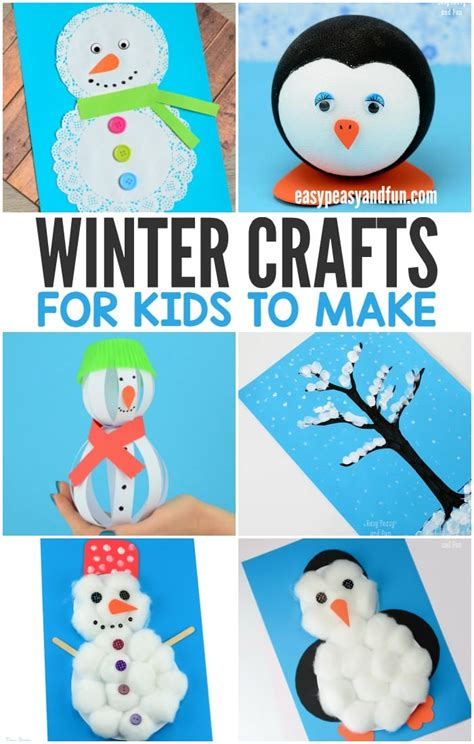to make with children winter crafts for to make easy peasy and