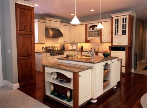 Cherry And White Kitchen Cabinets by Traditional Country Cabinets