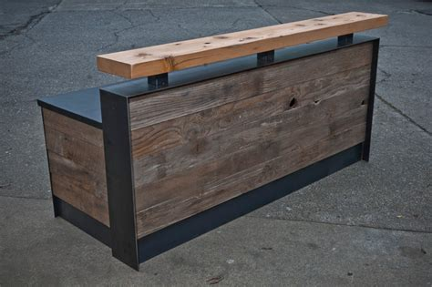 Rustic Reception Desk Reclaimed Reception Desk