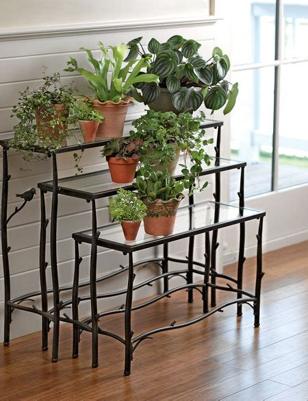 nesting plant stands branch plant stands glass nesting