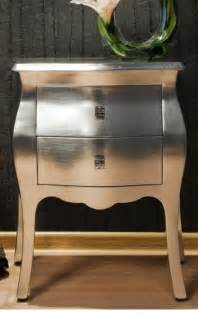 silver painted furniture on metallic painted