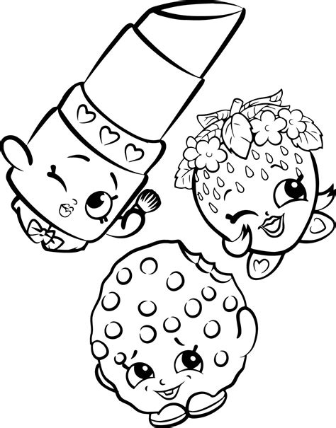 Shopkins Coloring Pages With No Color Printable 3 Shopkins Coloring Pages Pictures To Colour