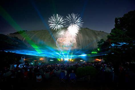 Celebrate The 4th Of July At Stone Mountain Park Dekalb Cvb Light Show Atlanta