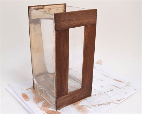 how to glue wood to glass simple cactus terarriums