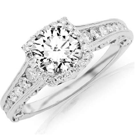 Berlian 0 55 Ct antique vintage channel set engagement