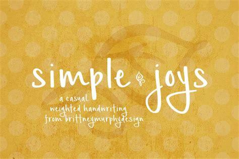 simple joys font befontscom