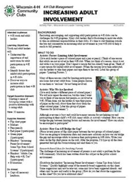 The 4 H Basics A Newsletter For New 4 H Families For The Full Newsletter Please Click On The Ffa Newsletter Templates