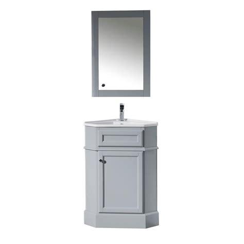 Corner Vanity With Mirror by Bathroom White Corner Bathroom Vanity Mirror With Storage