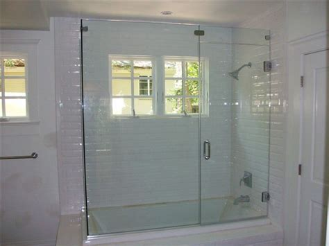 tub with glass shower door frameless glass tub and shower door anchor ventana glass