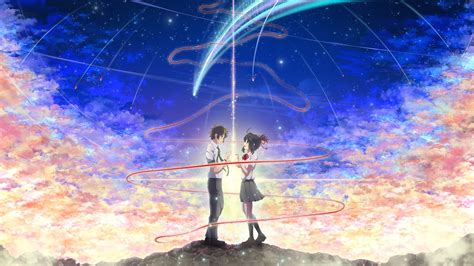 Wall Paper On Ceiling by Your Name Anime Comet Taki And Mits Wallpaper 12386