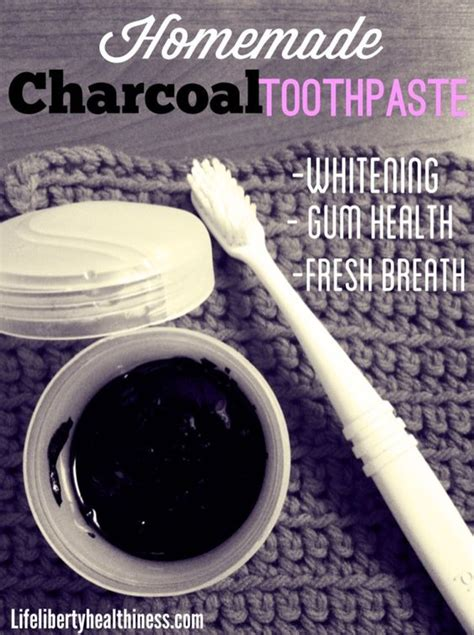 homemade charcoal toothpaste  whitening gum health