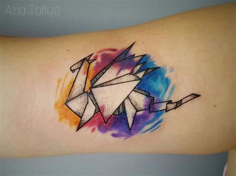 tattoo animal origami 1000 ideas about origami tattoo on pinterest small