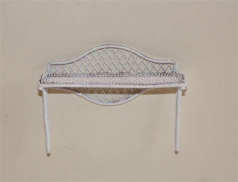 White Wire Wall Shelf Furniture The Doll House