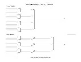 printable double elimination pinewood derby four lanes