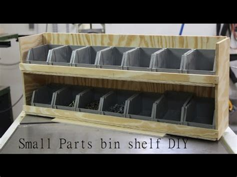 shop garage storage small parts bin shelf diy youtube