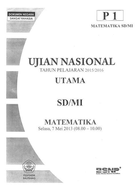 The King Us Sd Mi 2018 Bedah Kisi latihan soal us sd 2016 matematika ipa dan bahasa indonesia info kepegawaian