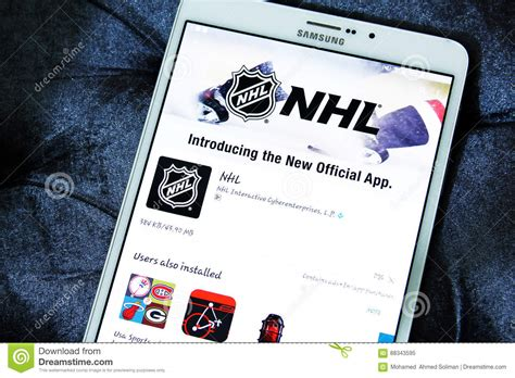 nhl mobile nhl mobile app editorial image image of national logos